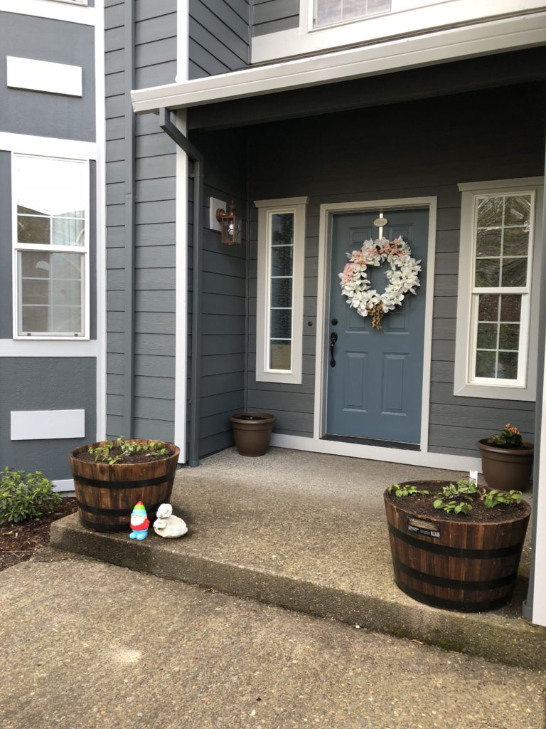 """Exterior Of Mudroom Addition In Portland Oregon I Love The Porch: Spring Is Not Yet """"sprung"""""""